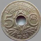 Photo numismatique  Monnaies Monnaies Françaises Troisième République 5 centimes Lindauer 5 centimes Lindauer 1933, G.170 TTB à SUPERBE
