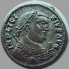 Photo numismatique  Monnaies Empire Romain LICINIUS I, LICINIO I,  Follis, folles,  LICINIUS I, Follis Héraclea en 318-320, Providentiae Augg, SMHA.A, 3,19 grms, RIC 48 SUPERBE