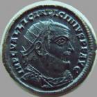 Photo numismatique  Monnaies Empire Romain LICINIUS I, LICINIO I,  Follis, folles,  LICINIUS I, follis Antioche en 321-323, buste radié, Iovi Conservatori, 2,85 grms, RIC 35 R2! SUPERBE/TTB+