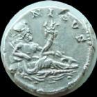 Photo numismatique  Monnaies Empire Romain HADRIEN, HADRIANUS, HADRIANO, HADRIAN Denier, denar, denario, denarius HADRIEN, HADRIANUS, denier Rome en 134-138, buste � gauche, Nilus, crocodile, 3,34 grms, RIC II 311 TTB/TTB+ R!