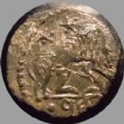 Photo numismatique  Monnaies Peuples Barbares Barbares de la fin du 4éme siècle Minimi, follis petit module Barbares, imitation de la fin du 4e-début 5e siècle, du type URBS ROMA, 10 mm, 0,78 grm, TTB+/TTB
