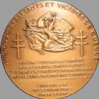 Photo numismatique  Monnaies Médailles Armée, anciens combattants Médaille bronze Anciens combattants et victime de guerre, médaille en bronze de 50 mm, SUPERBE à FDC