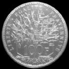 Photo numismatique  Monnaies Monnaies Françaises Cinquième république 100 francs Panthéon 100 francs Panthéon 1987, G.898 FDC (sous blister de la boite)