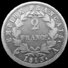 Photo numismatique  Monnaies Monnaies Fran�aises 1er Empire 2 Francs NAPOLEON I, 2 francs Empire 1813 A Paris, G.501 TB � TTB