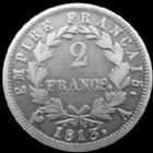 Photo numismatique  Monnaies Monnaies Françaises 1er Empire 2 Francs NAPOLEON I, 2 francs Empire 1813 A Paris, G.501 TB à TTB