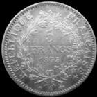 Photo numismatique  Monnaies Monnaies Françaises Troisième République 5 Francs 5 francs Hercule 1873 A Paris, G.745a TTB