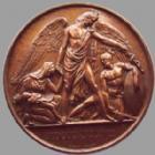 Photo numismatique  Monnaies Médailles Chirurgien, Chirurgien Miltaire Médaille en cuivre J.D LARREY, médaille en cuivre 52 mm, Chirurgien en chef de l'armée de Napoleon I, né en 1766, mort en 1842, signé Petit, presque SUPERBE