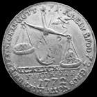 Photo numismatique  Monnaies Allemagne avant 1871 Allemagne, Deutschland, Furth Jeton, ietton, médaille, medaillen Bayern, Bavière, Furth, Jeton cuivre argenté 1772, Fortuna in der kammer, 23,5 mm, TB à TTB/TTB Rare!