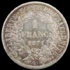 Photo numismatique  Monnaies Monnaies Françaises Défense nationale 1 Franc Défense Nationale, 1 franc 1871 grand A, G.465 presque SUPERBE