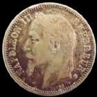 Photo numismatique  Monnaies Monnaies Françaises Second Empire 1 Franc NAPOLEON III, 1 franc 1870 BB Strasbourg, G.463 TB à TTB