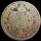 Photo numismatique  Monnaies Monnaies Françaises Second Empire 1 Franc NAPOLEON III, 1 franc 1866 A Paris, G.463 TB+ légèrement néttoyée