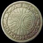 Photo numismatique  Monnaies Allemagne après 1871 Allemagne, Deutschland, Weimar republik, republique de Weimar 50 Pfennig Allemagne, Deutschland, République de Weimar, Weimar republik, 50 pfennig 1927 D, J.324 TTB+