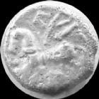 Photo numismatique  Monnaies Monnaies Gauloises Lingones, Lingons Denier, denar, denario, denarius Lingones, Lingons, Denier KALETEDOY, 1e si�cle avant Jc, cheval � gauche, 1,83 grms, DT 3195 TB