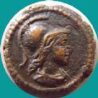 Photo numismatique  Monnaies Empire Romain DOMITIEN, DOMITIANUS, DOMITIAN, DOMITIANO Quadrans Anonyme, Domitien?, quadrans 81-161 de Domitien à Antonin, Buste de Minerve, Branche d'olivier, 2,60 grms, RIC II 9 (var.sans égide) TTB à SUPERBE