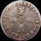 Photo numismatique  Monnaies Monnaies Royales Henri IV quart d'Ecu HENRI IV, 1/4 d'Ecu 1607 L Bayonne, �toile dans le C de France, olive en fin de l�gende de Rv, 9,62 grms, DY.1224 TTB+