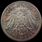 Photo numismatique  Monnaies Allemagne après 1871 Allemagne, Deutschland, Sachsen, Saxe, Sachs 3 Mark Allemagne, Deutschland, Sachsen, Saxe, Friedrich August III, 3 mark 1913 E, J.140 SUPERBE