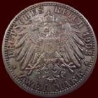 Photo numismatique  Monnaies Allemagne après 1871 Allemagne, Deutschland, Baden, Bade 2 mark, Zwei mark Allemagne, Deustchland, Baden, Bade, Friedrich I, 2 mark 1902 G, J.30 TTB+/SUPERBE
