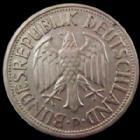 Photo numismatique  Monnaies Allemagne après 1871 Allemagne BDR, Deutschland BDR, Germay BDR 1 Mark Allemagne, Deutschland, BDR, 1 mark 1950 D, J.385 TTB+ R!