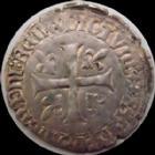 Photo numismatique  Monnaies Monnaies Royales Fran�ois Ier Blanc Franciscus FRANCOIS Ie, Blanc Franciscus, 1515-1547, Ancre= Bayonne, 1,94 grms, DY.856 TB � TTB