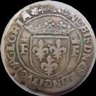 Photo numismatique  Monnaies Monnaies Royales Fran�ois Ier Demi Teston FRANCOIS Ie, 1/2 Teston 13e type Lyon, 1515-1547, 4,42 grms, DY.813 TTB