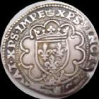 Photo numismatique  Monnaies Monnaies Royales Fran�ois Ier Demi Teston FRANCOIS Ie, 1/2 Teston 3e type, point 18e Paris, 1515-1547, 4,63 grms, DY.795 presque TTB R!