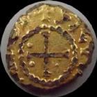 Photo numismatique  Monnaies Monnaies Mérovingiennes 6e / 7e siècle Triens or MEROVINGIEN, Triens fourré, 6/7e siècle, atelier à déterminer, 0,89 grm, TB+