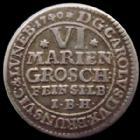 Photo numismatique  Monnaies Allemagne avant 1871 Allemagne, Deutschland, Braunschweig Wolfenbuttel VI Mariengroschen, 6 Mariengroschen Brunswick Wolfenbuttel, Braunschweig Wolfenbuttel, VI Mariengroschen 1740, 3,20 grms, Welter.2752 TTB