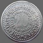 Photo numismatique  Monnaies Monnaies de nécéssité Bois de Boulogne, chemin de fer 20 Centimes Bois de Boulogne, chemin de fer, 20 centimes 1920, aluminium 28,5 mm, E.C770 1B, SUPERBE+