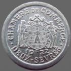 Photo numismatique  Monnaies Monnaies de nécéssité DEUX - SEVRES 5 Centimes Deux-sèvres, chambre de commerce, 5 centimes 1922, aluminium 19,2 mm, E.10.1 SUPERBE+