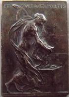 Photo numismatique  Monnaies Médailles Art Nouveau, Art Déco Médaille plaquette en argent Art nouveau, art déco, médaille plaquette en argent 27,5x19,8 mm, Paris 1900, Congrès des valeurs mobilières, O.Roty, TTB+ R!