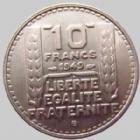 Photo numismatique  Monnaies Monnaies Françaises 4ème république 10 Francs 10 francs Turin 1949 B, G.811 SUPERBE
