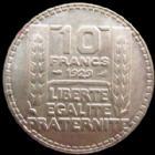 Photo numismatique  Monnaies Monnaies Françaises Troisième République 10 Francs 10 francs Turin argent 1929, G.801 TTB à SUPERBE