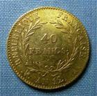 Photo numismatique  Monnaies Monnaies Françaises Consulat 40 Francs or CONSULAT, BONAPARTE PREMIER CONSUL, 40 Francs or, AN 12 A Paris, Gadoury 1080 TTB