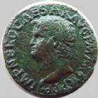 Photo numismatique  Monnaies Empire Romain NERON, NERO As, asse,  NERON, NERO, As Lyon en 66, Victoire tenant un globe SPQR, 10,66 grms, RIC 544 TB � TTB/TB