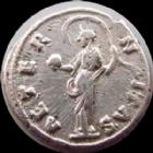 Photo numismatique  Monnaies Empire Romain FAUSTINE MERE, FAUSTINA MAIOR, DIVA FAUSTINA Denier, denar, denario, denarius FAUSTINE M�re, FAUSTINA I Maior, denier posthume Rome apr�s 140, Aeternitas, 2,95 grms, RIC 351 TB � TTB