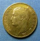 Photo numismatique  Monnaies Monnaies Françaises 1er Empire 40 Francs or NAPOLEON Ier, 40 francs or AN 13 A Paris, Gadoury 1081 TB à TTB