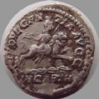Photo numismatique  Monnaies Empire Romain SEPTIME SEVERE, SEPTIMUS SEVERUS, SEPTIMO SEVERO Denier, denar, denario, denarius SEPTIME SEVERE, SEPTIMIUS SEVERUS, denier Rome en 202-210, Indulgentia Avgg in Carth, 3,11 grms, RIC 266 presque TTB