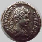Photo numismatique  Monnaies Empire Romain CARACALLA Denier, denar, denario, denarius CARACALLA, Denier Rome en 201, Part Max Pont TR P IIII, 3,12 grms, RIC 54a TTB+/TB+