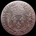 Photo numismatique  Monnaies Monnaies Royales Louis XIV 33 Sols de Strasbourg aux insignes et aux palmes LOUIS XIV, 33 sols de Strabourg aux insignes et aux palmes, 1707 BB, 9,02 grms, L4L.385 TTB