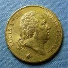 Photo numismatique  Monnaies Monnaies Fran�aises Louis XVIII 40 Francs or LOUIS XVIII 40 Francs or 1817 A, Gadoury 1092 TTB