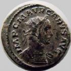 Photo numismatique  Monnaies Empire Romain CARUS, CARO Antoninien, antoninianus, antoniniane CARUS, Antoninien Lyon (Lugdunum) en 282-283, Pax Avgg, 3,99 grms, RIC 13 TTB