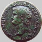Photo numismatique  Monnaies Empire Romain NERON, NERO As, asse,  NERON, NERO, As lyon en 66, Victoire tenant un globe, SPQR, 1,61 grms, RIC 544 Bon TTB