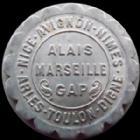 Photo numismatique  Monnaies Monnaies de nécéssité Region Provencale 10 Centimes REGION PROVENCALE, chambres de commerce, 10 centimes aluminium 1921, 25 mm, E.10.7 SUPERBE