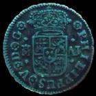 Photo numismatique  Monnaies Monnaies étrangères Espagne, Spain 1/2 Réal Espagne, Spain, 1/2 réal 1746 M/AJ Madrid, 1,28 grms, KM.350.1 TTB+