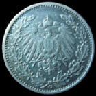 Photo numismatique  Monnaies Allemagne après 1871 Allemagne, Deutschland, Empire, Kaisereich 1/2 Mark 1/2 Mark 1906 G, J.16 TTB