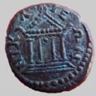 Photo numismatique  Monnaies Colonies Romaines Bithynie, Bithynia AE, AES, Bronze SEPTIME SEVERE, SEPTIMIUS SEVERUS, Bithynie en 193-211, AE 14 mm, Temple, 3,36 grms, TTB+ R!
