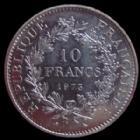 Photo numismatique  Monnaies Monnaies Françaises Cinquième république 10 francs Hercule 10 francs Hercule 1973, G.813 SUPERBE à FDC