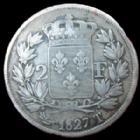 Photo numismatique  Monnaies Monnaies Françaises Charles X 2 Francs CHARLES X, 2 francs 1827 T Nantes, G.516 TB+