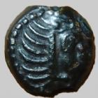 Photo numismatique  Monnaies Monnaies Gauloises Carnutes Bronze � l'aigle et � la rouelle CARNUTES vers 52 avant Jc, bronze � l'aigle et � la rouelle, 2,87 grms, LT.6117 TTB+