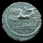 Photo numismatique  Monnaies République Romaine Plautia 60 avant Jc Denier, denar, denario, denarius P.PLAUTIUS HYPSAEUS, Denier Rome en 60 avant Jc, Quadrige à gauche, 3,93 grms, SYD.911 SUPERBE